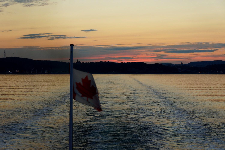 Coucher de soleil sur Baie-Comeau
