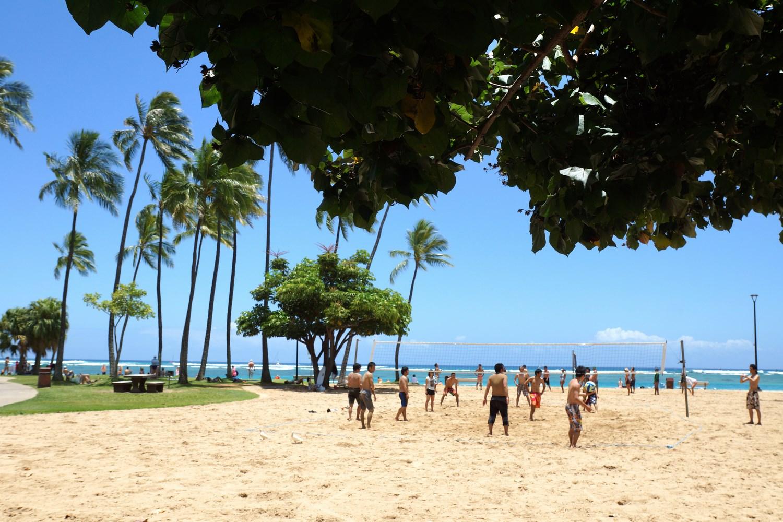 Les terrains de Beach Volley ne sont jamais à l'abandon !
