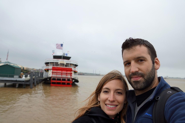 Selfie avec le Mississippi