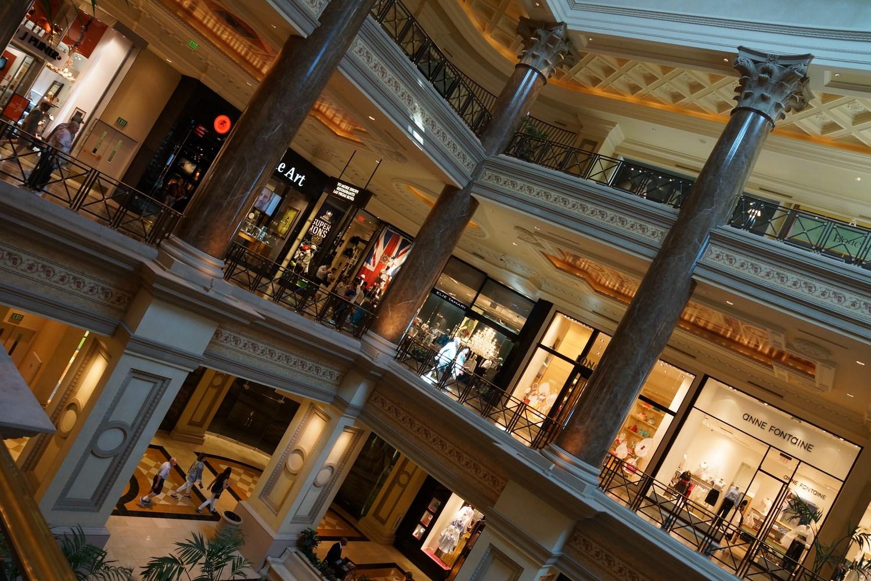 """Le centre commercial """"The Forum Shop"""" rattaché au Caesars Palace"""