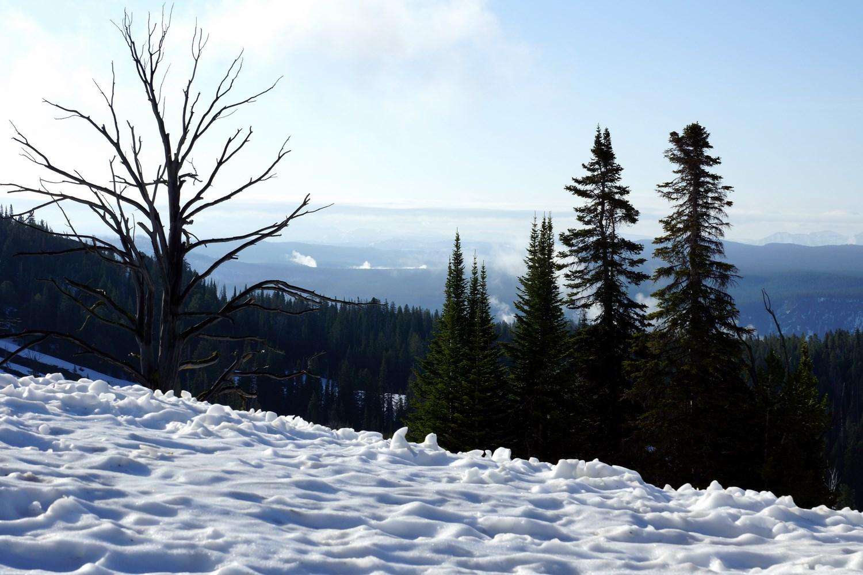 La neige était très présente sur les hauteurs